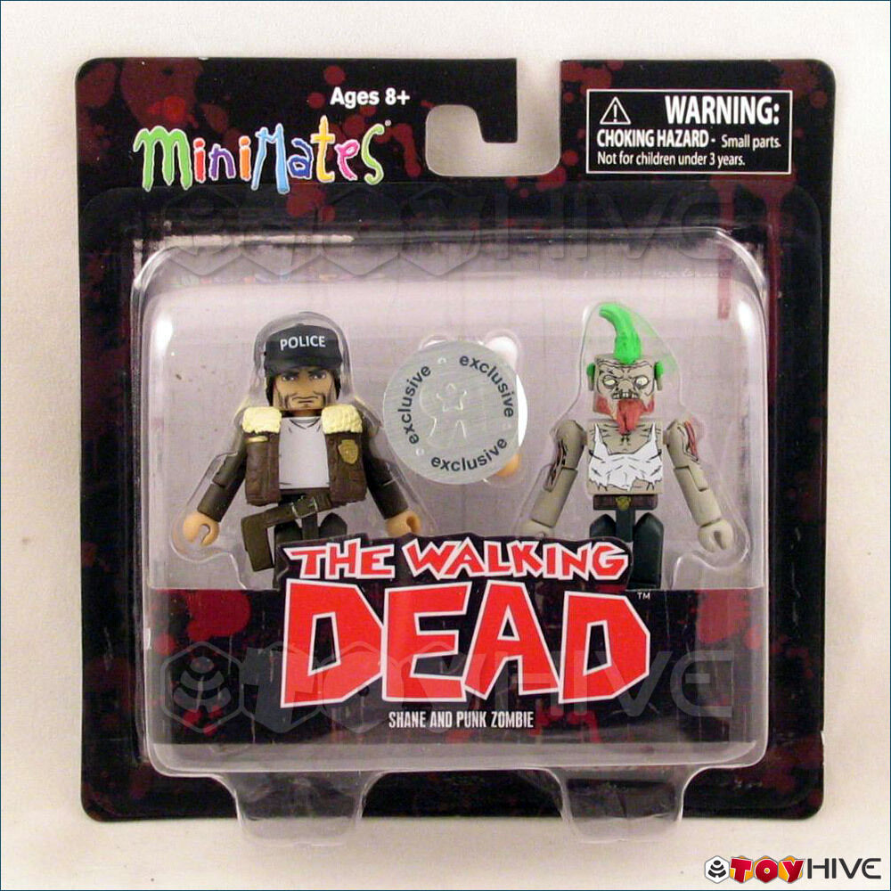 Zombie Toys R Us : The walking dead minimates figures shane and punk zombie