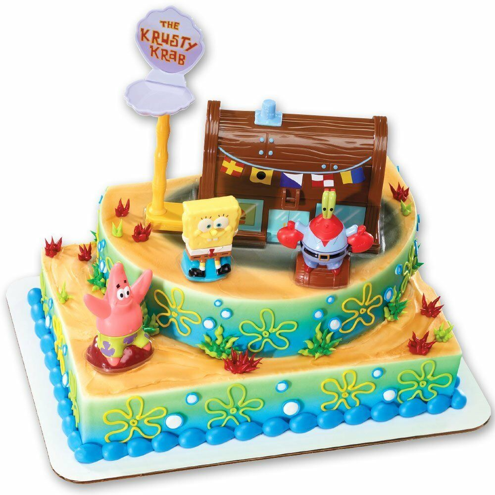 Cake Decoration Accessories : Spongebob Cake Decorating Kit - Topper eBay