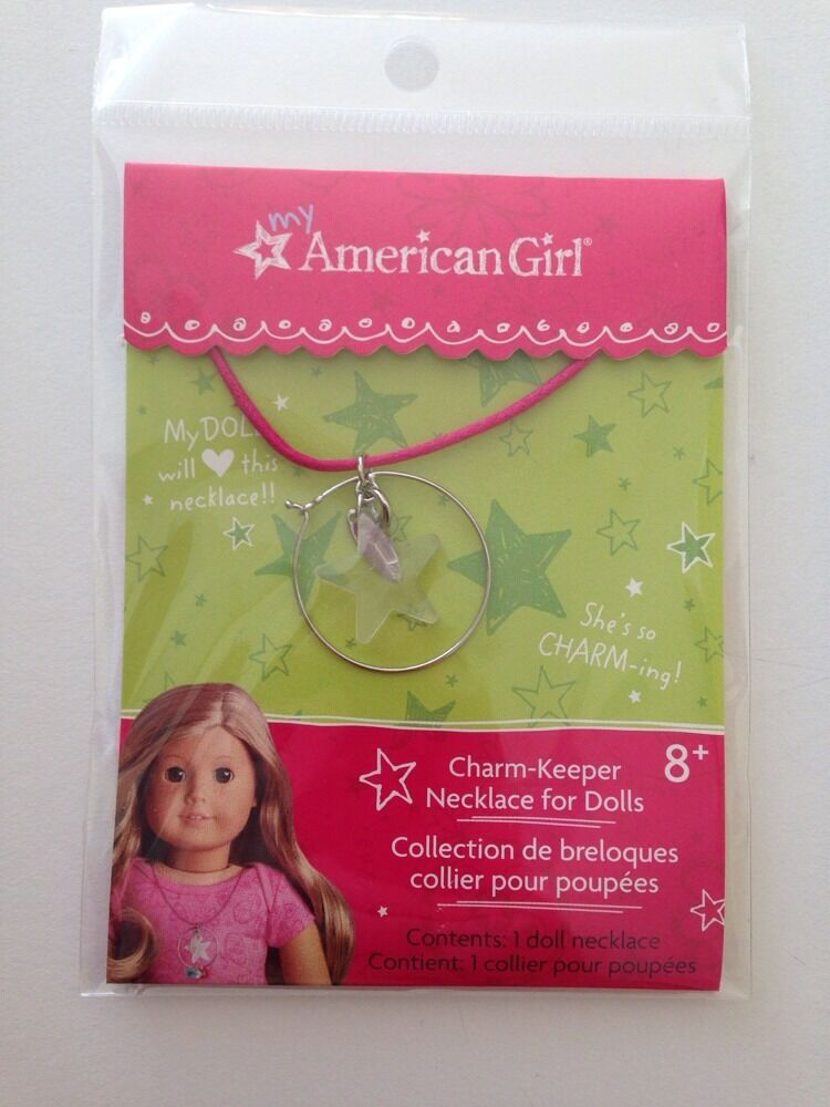 my american girl charm keeper necklace for doll new myag