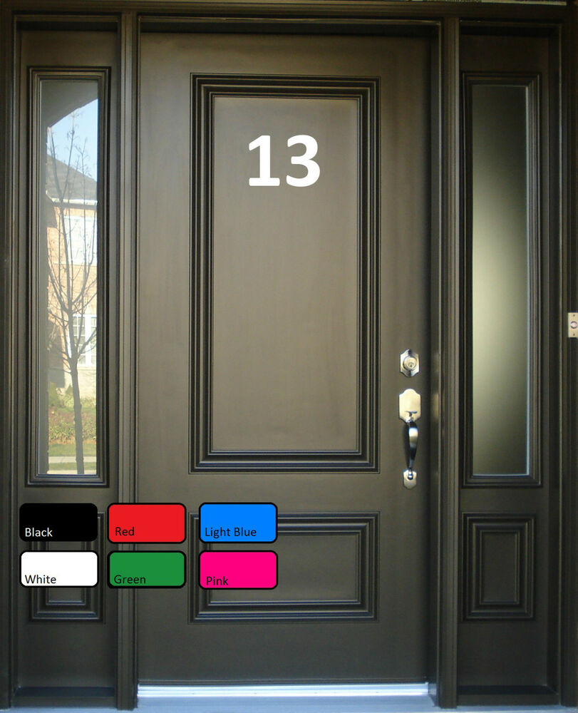 House Office Sign Door Numbers Letters Self Adhesive Vinyl