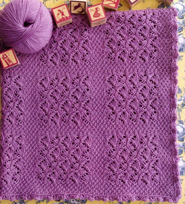 Knitting History Facts : Knitting pattern babies blanket beautiful textured lace