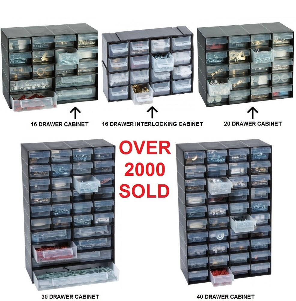 MULTI DRAWER STORAGE CABINET UNIT SMALL PARTS NAIL SCREW CRAFT ...