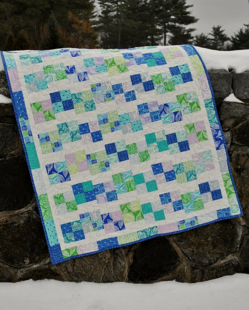 Baby Quilt Pattern, using Charm Squares, Jelly Roll, Layer Cake, Fat Quarters eBay