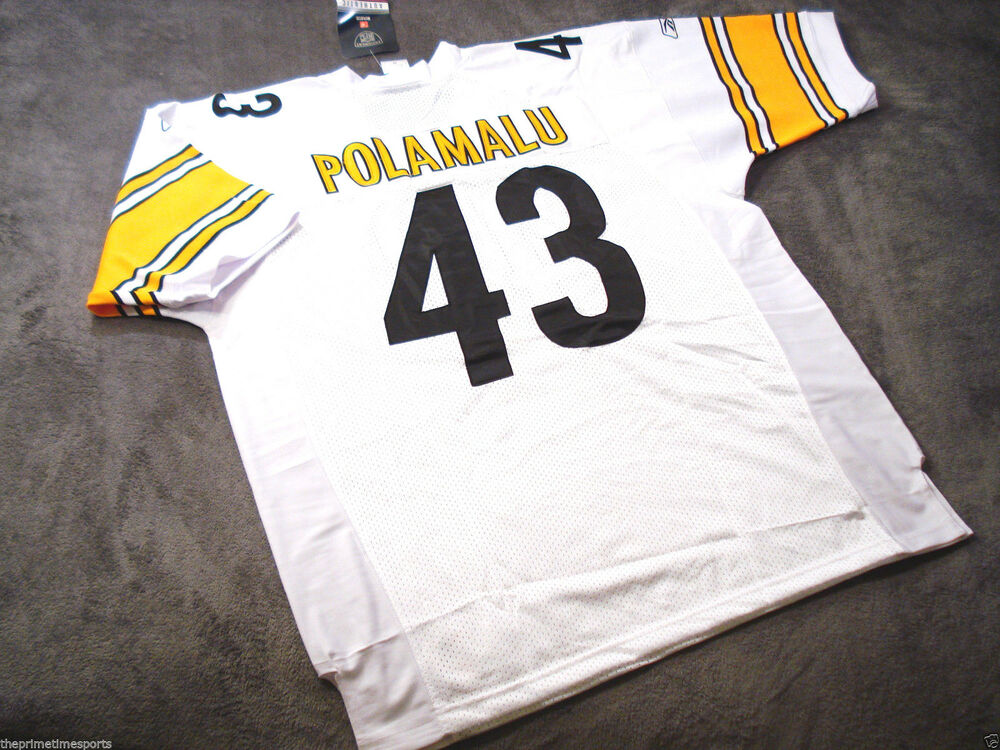 039edda68 TROY POLAMALU  43 - Pittsburgh Steelers White NFL Jersey -- ALL SIZES  AVAILABLE