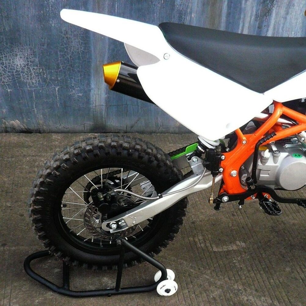 Motorcycle Dirt Pit Bike Rear Stand Lift Under Fork Wheel