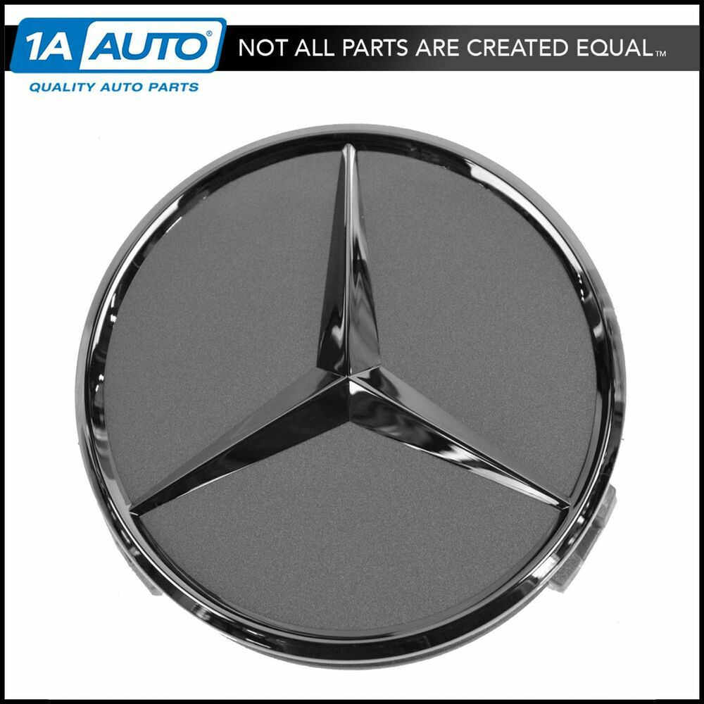 Oem wheel cap titanium chrome center for mercedes benz ebay for Mercedes benz wheel