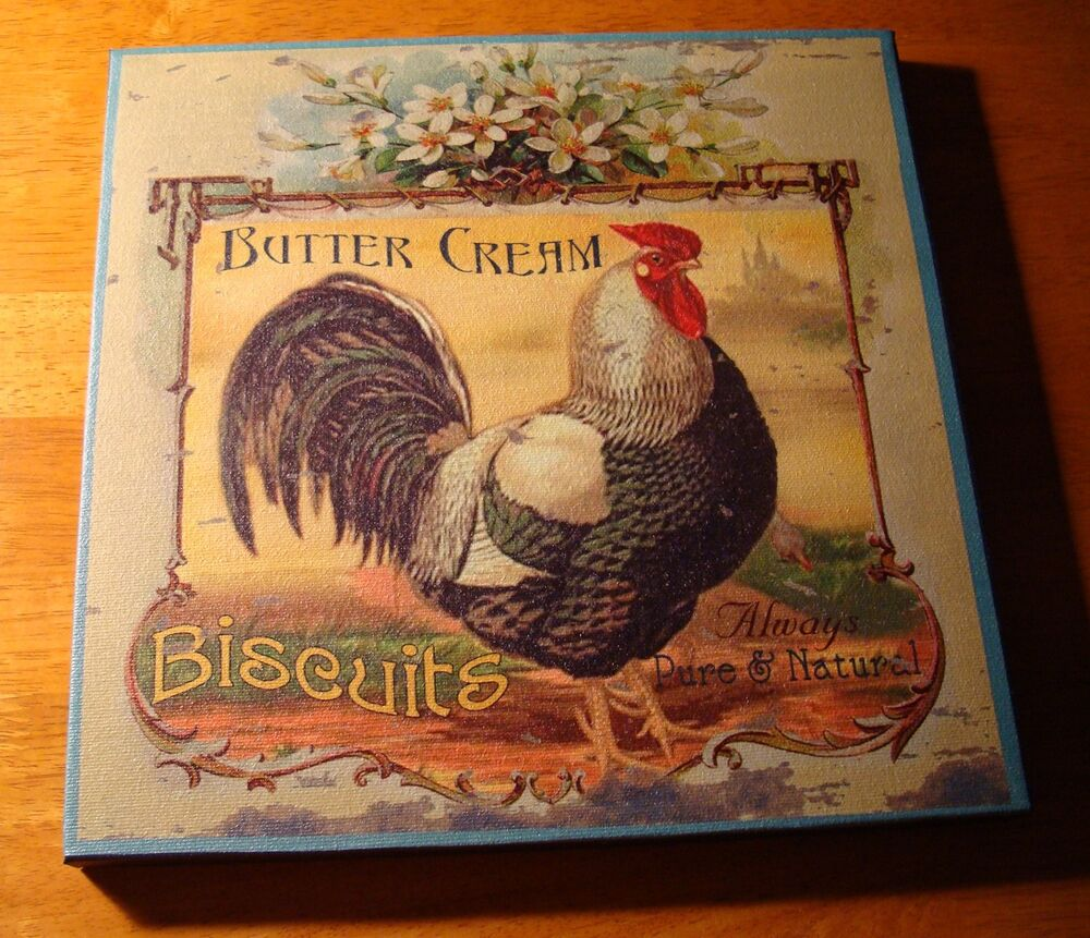 Buttercream biscuits french country style rooster kitchen - Kitchen rooster decor ...