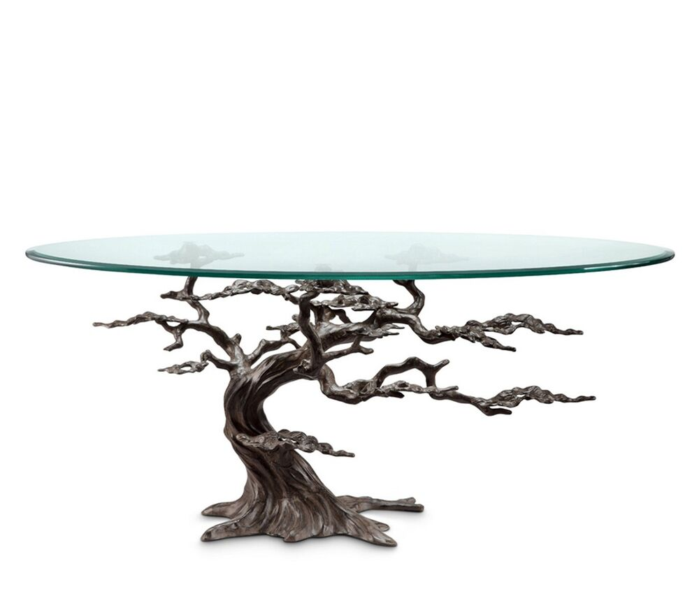 Coastal Cypress Tree Metal Glass Coffee Table Sculpture  : s l1000 from www.ebay.com size 1000 x 938 jpeg 92kB
