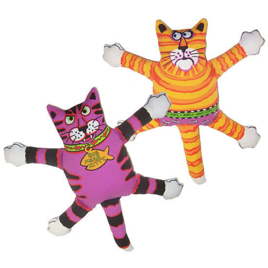 Fat Toy Dogs : Classic terrible nasty scaries canvas plush squeaker cat