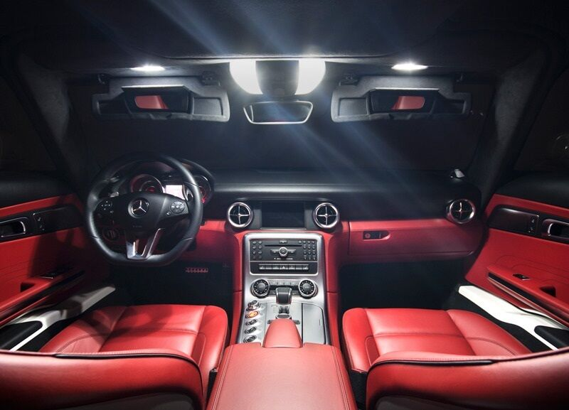 mercedes e class coupe sport w207 xenon white led interior lights bulbs kit ebay. Black Bedroom Furniture Sets. Home Design Ideas