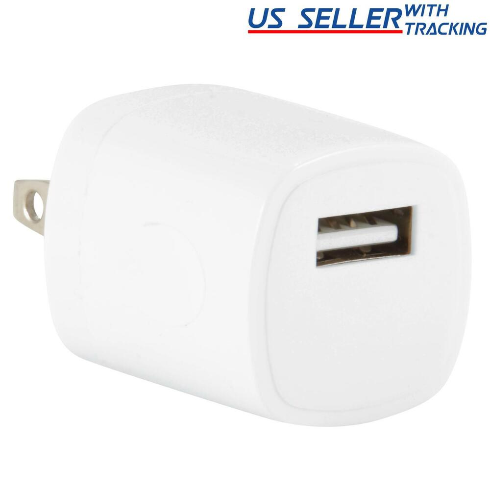 Iphone Wall Charger: USB Power Adapter AC Wall Charger Cube Plug IPhone 3GS 4