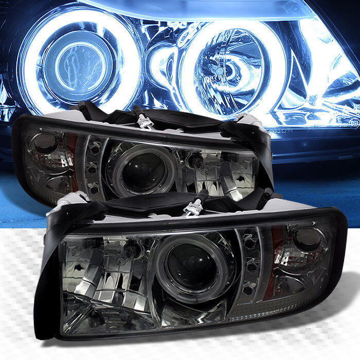 For Smoked Ccfl Halo Led 94 01 Dodge Ram Projector