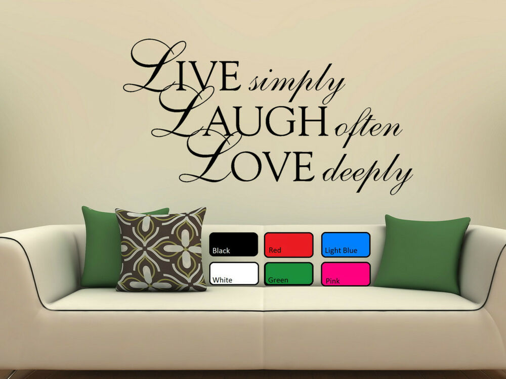 Live laugh love wall art sticker quote vinyl wall decor for Live laugh love wall art