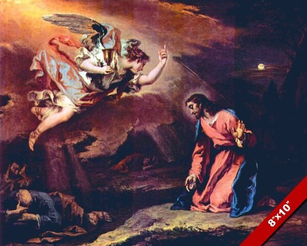 LORD JESUS CHRIST SUFFERING IN GETHSEMANE PAINTING BIBLE ...