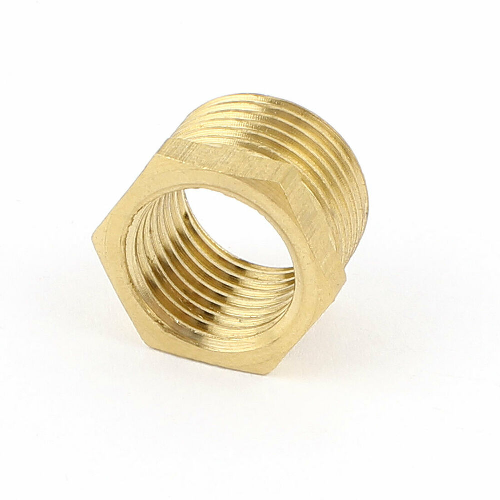 New brass pipe water gas reducer hex bushing fitting