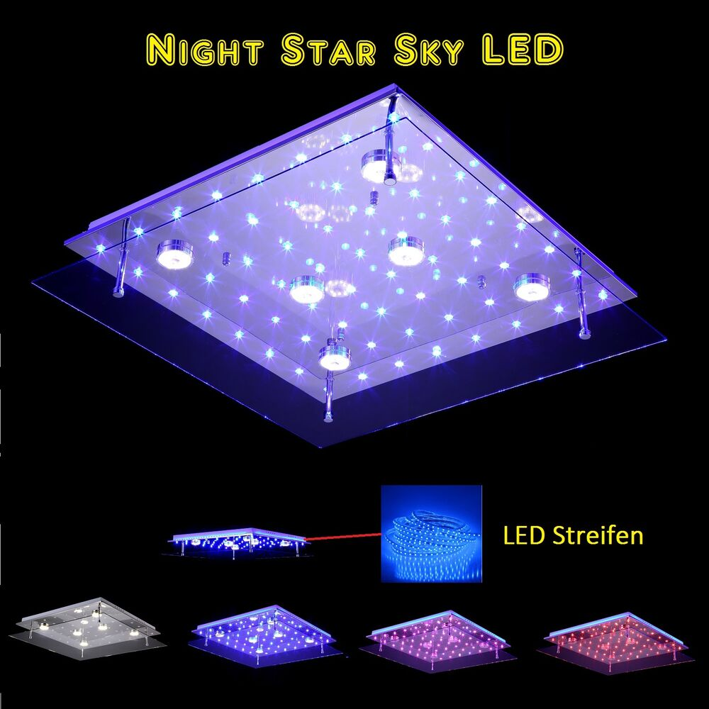 l50cm 60cm led sternenhimmel night sky farbwechsel deckenlampe deckenleuchte ebay. Black Bedroom Furniture Sets. Home Design Ideas