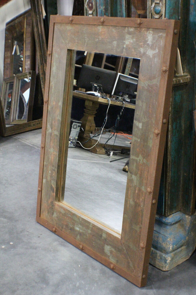 48 t mirror wood iron frame distressed green rustic slc ut furniture sale event ebay Home decor stores utah county