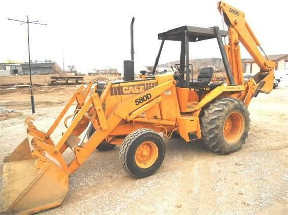 case 580d 580 super d loader backhoe tractor shop service