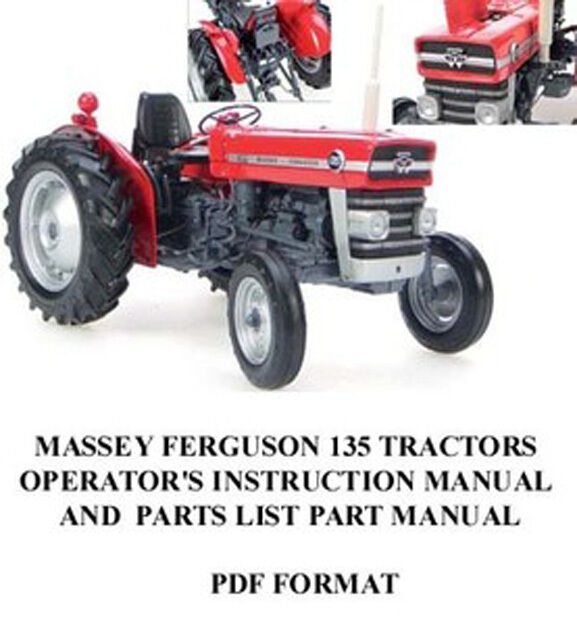 Massey Ferguson 135 Tractor Operator U0026 39 S Instruction Parts