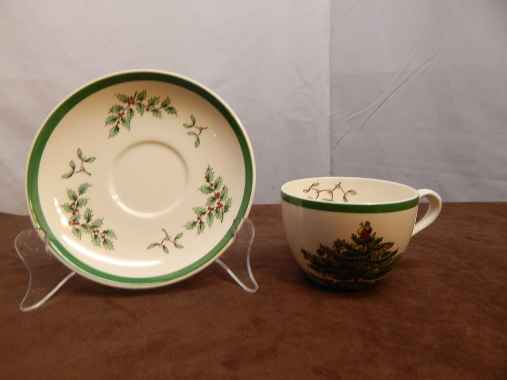 Spode Christmas Tree Cup And Saucer Set(s); S3324 Made In