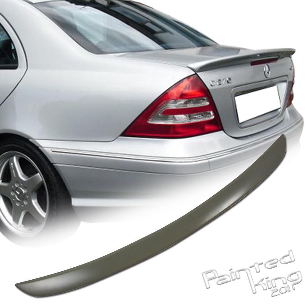mercedes benz w203 c class a type abs rear trunk spoiler wing 01 07 unpainted ebay. Black Bedroom Furniture Sets. Home Design Ideas