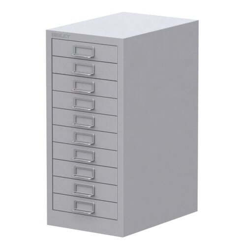 Grey 10 Multi Drawer Bisley Filing Cabinet Brand New