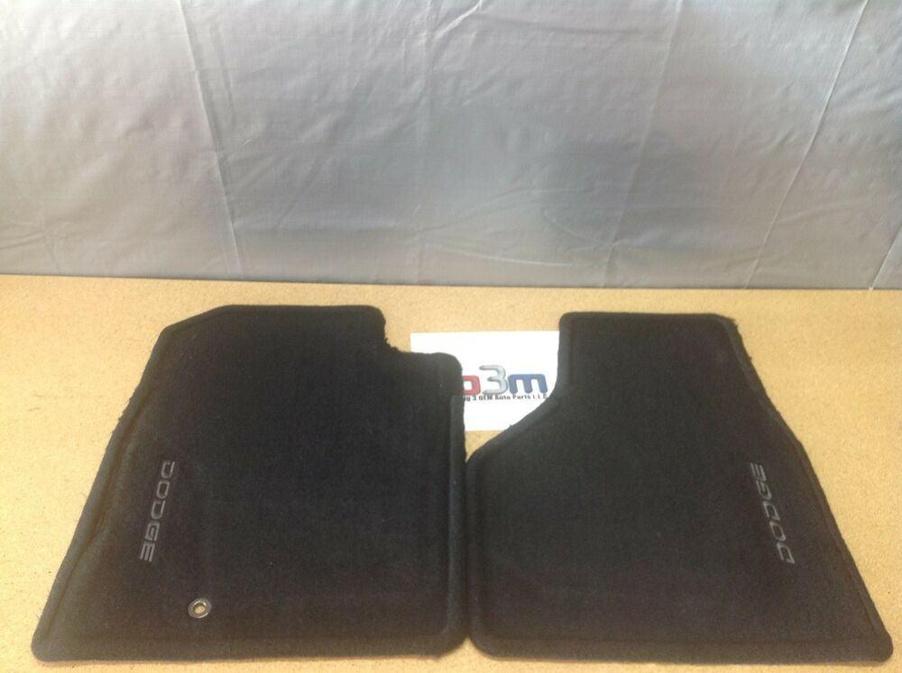 2002 2005 Dodge Ram Black Carpet Front Floor Mats Factory