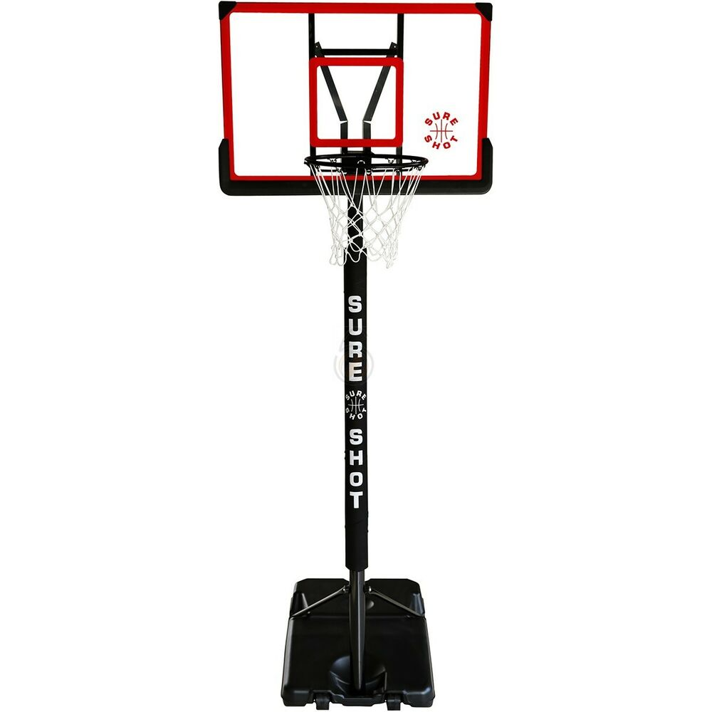 New sure shot portable basketball unit acrylic backboard for How much to build a basketball gym