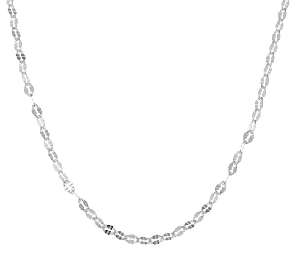 Diamond Cut Oval Link Chain Necklace Real 925 Sterling