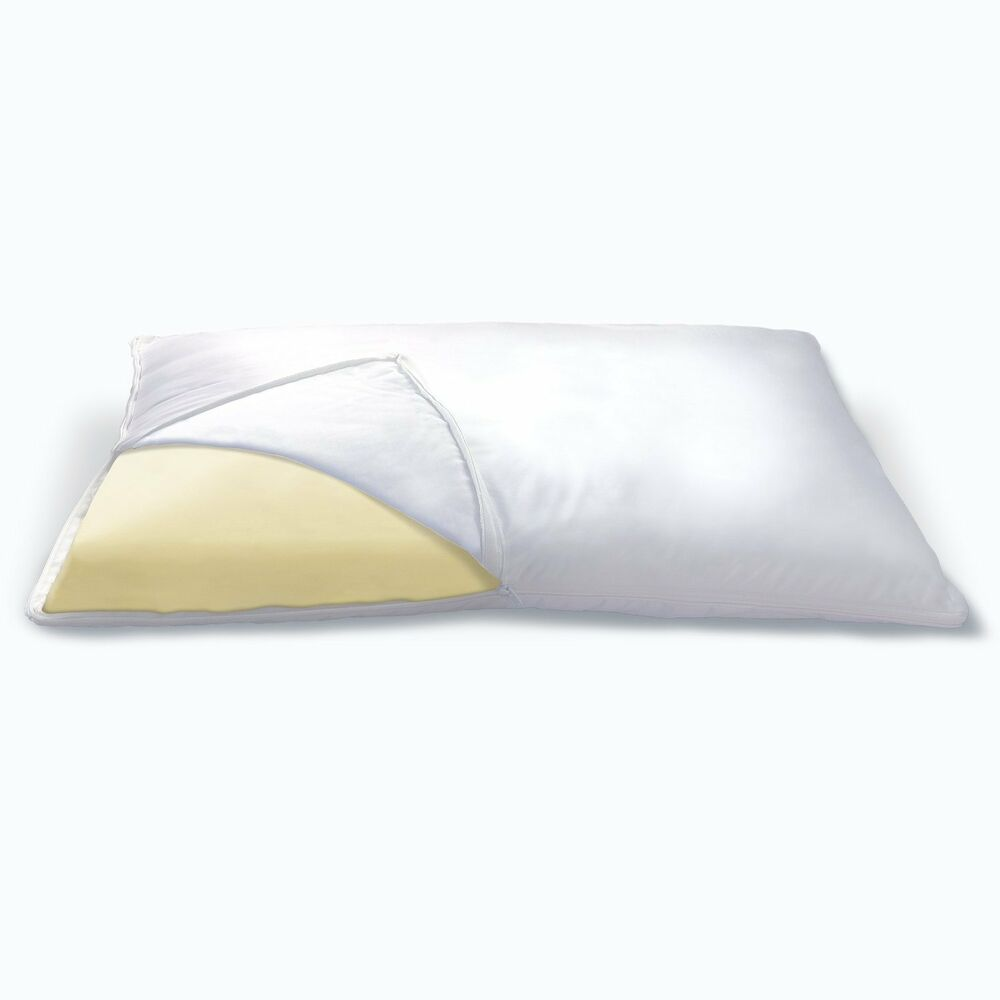EXCLUSIVE BED-WORLD SET OF 2 LUXURY 100% MEMORY FOAM PILLOW eBay