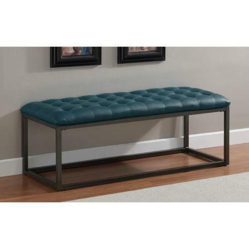 living room bench seating healy teal leather tufted bench ottoman seat furniture 12613
