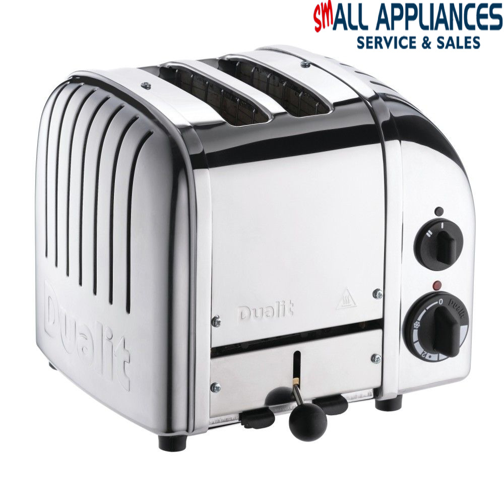 Toaster Plugged In ~ Dualit slice polished  yr wty fitted with aus