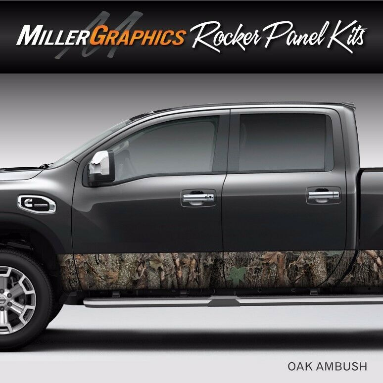 Camo Quot Oak Ambush Quot Rocker Panel Graphic Decal Wrap Kit