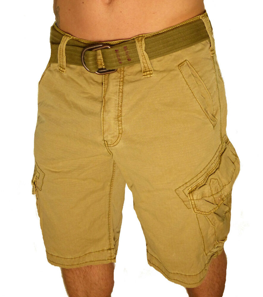 jet lag cargo herren shorts take off 3 gold beige cargoshorts m nner kurze hose ebay. Black Bedroom Furniture Sets. Home Design Ideas