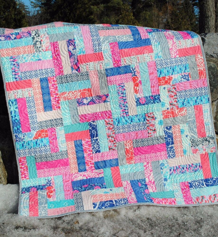 Patchwork Quilt Pattern Using Jelly Roll Fat Quarters Or Strips