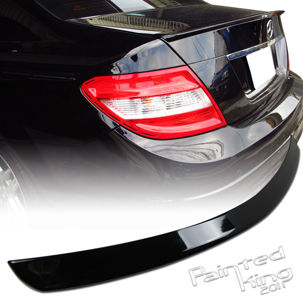 painted 08 13 mercedes benz w204 c class trunk spoiler. Black Bedroom Furniture Sets. Home Design Ideas