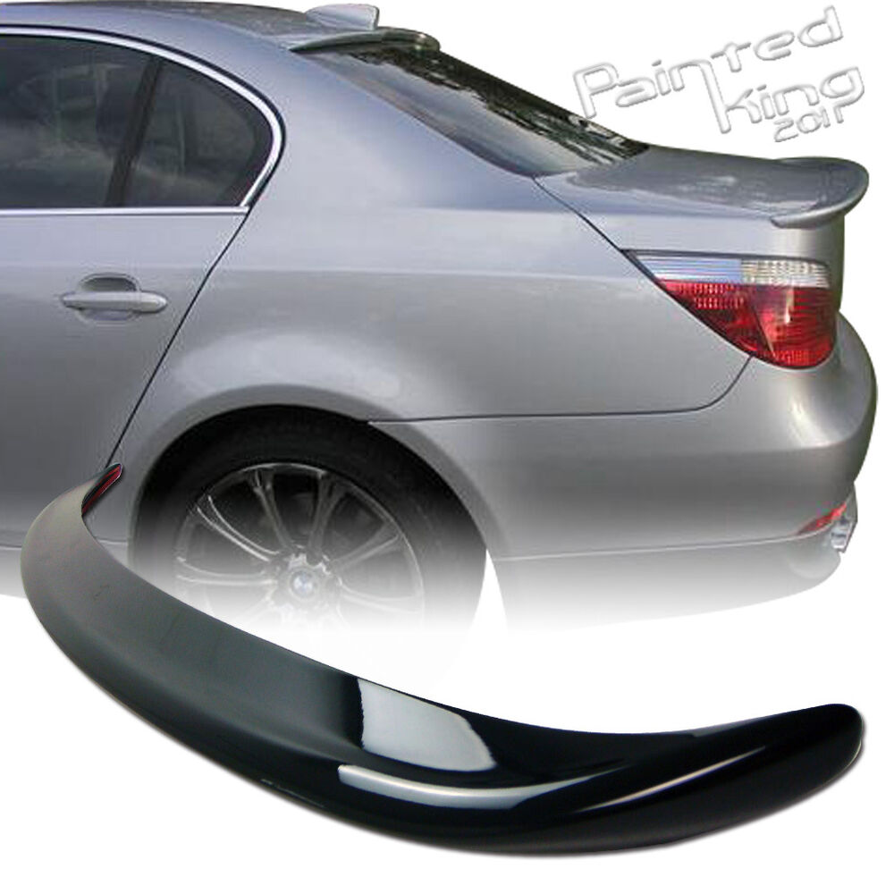 painted 2004 2010 bmw e60 5 series a type trunk spoiler. Black Bedroom Furniture Sets. Home Design Ideas