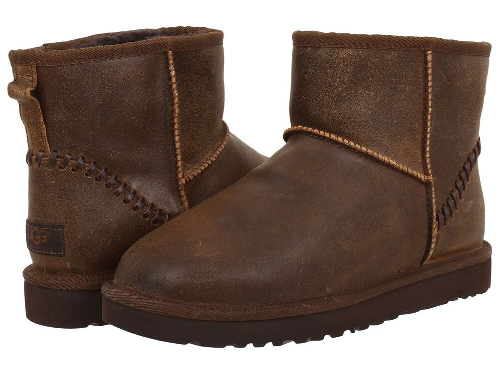 new men ugg australia classic boot mini deco chocolate brown 1007194 original ebay. Black Bedroom Furniture Sets. Home Design Ideas