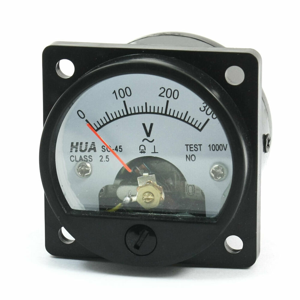 Ac Panel Meters : Class ac v range analog voltage voltmeter panel