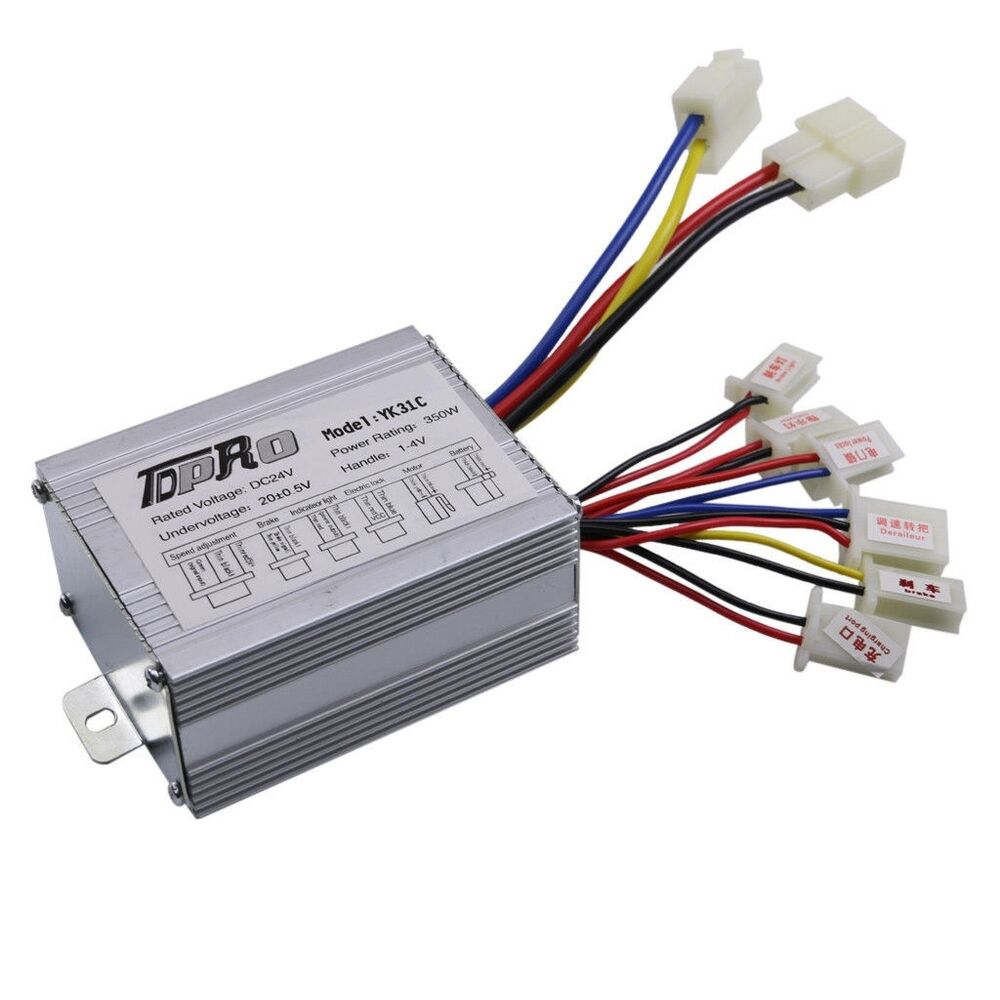 Electric E Scooter Moped Bike Motor Controller 24v 350w 24