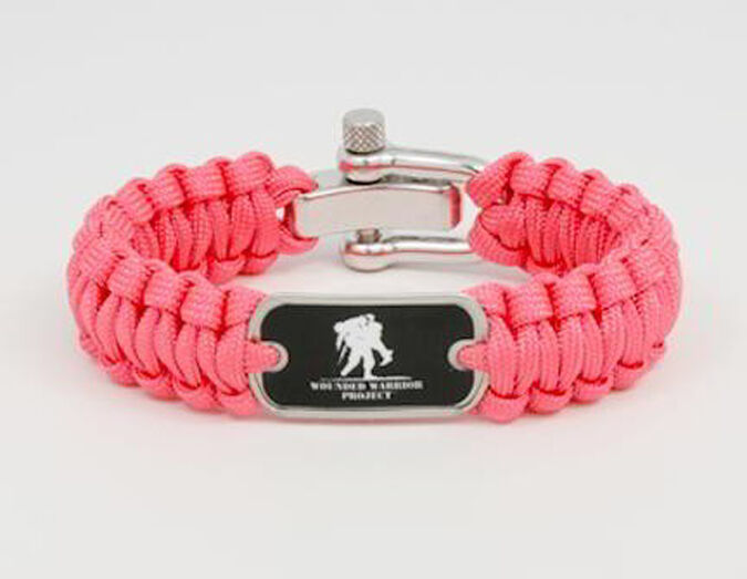wounded warrior project paracord survival bracelet pink by