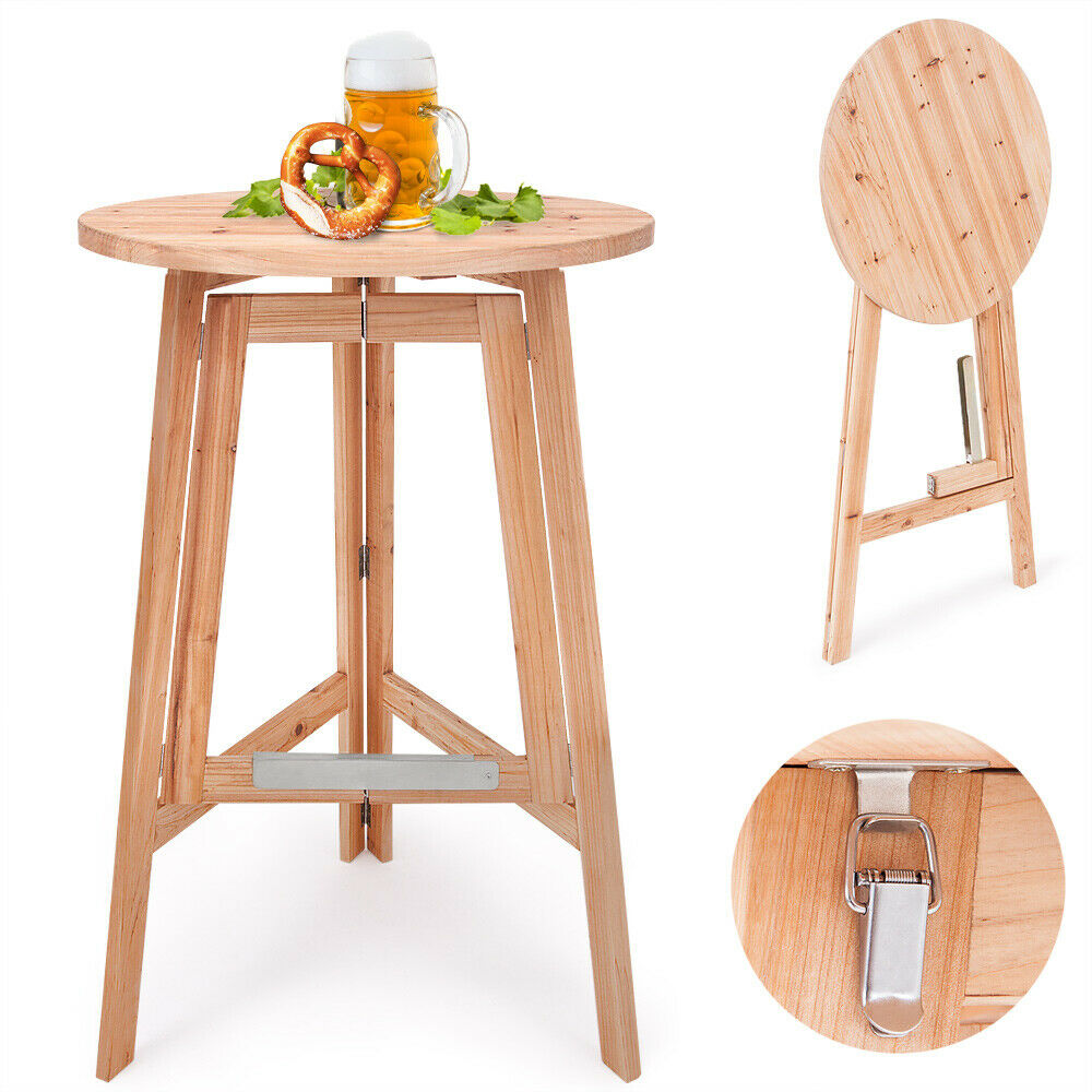 stehtisch bistrotisch partytisch holzstehtisch klapptisch klappbar garten 78cm ebay. Black Bedroom Furniture Sets. Home Design Ideas
