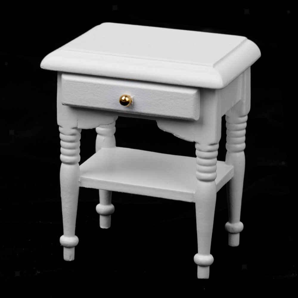 white wooden bedside cabinet nightstand for 12th dollhouse Bob's Furniture Bedroom Sets Mirrore Dressers Bedroom Ceiling