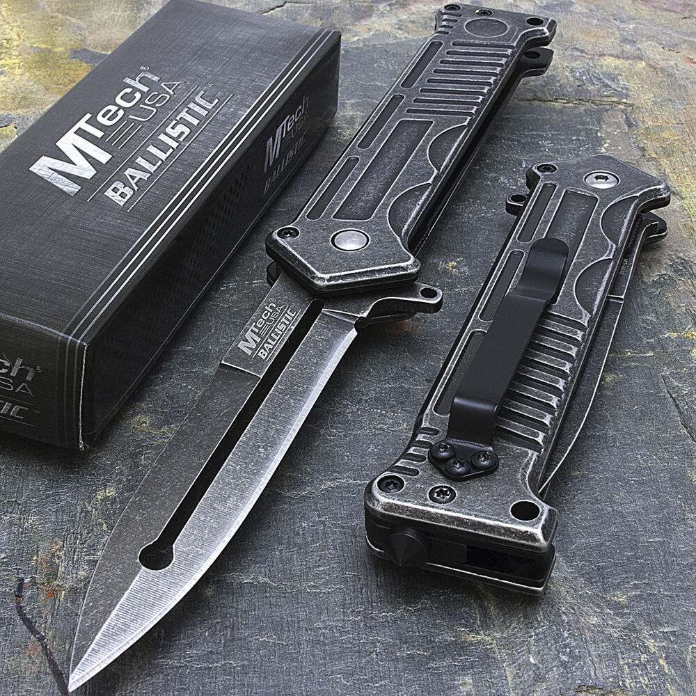 8quot mtech usa military spring assisted stiletto tactical