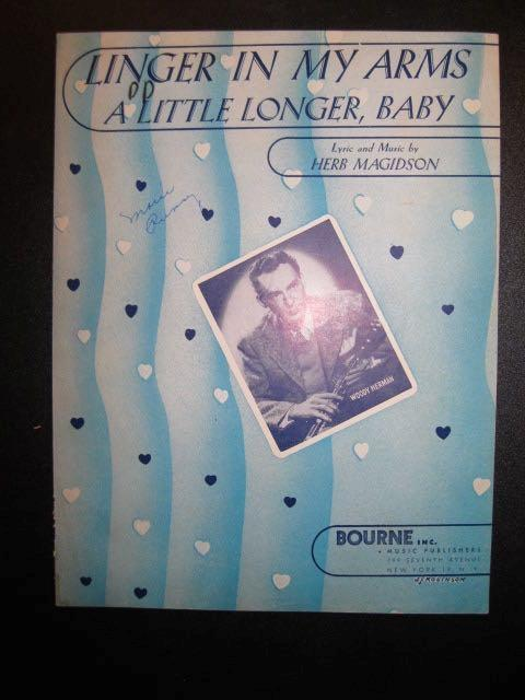 Linger In My Arms A Little Longer Baby Sheet Music Vintage 1946 Herb