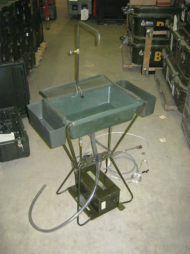 Portable Self Contained Hot Water Sink Camp Fish Rv Boat