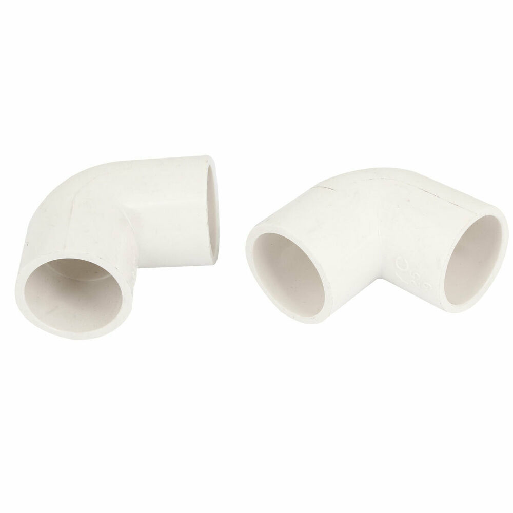 25mm inner diameter 90 degree elbow pvc pipe connector fittings white 2 pcs ebay. Black Bedroom Furniture Sets. Home Design Ideas