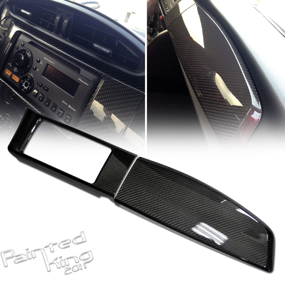 Carbon for toyota gt86 scion frs subaru brz dashboard radio bezel panel cover ebay for Scion frs interior accessories
