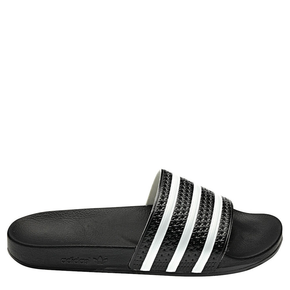 adidas originals adilette m herren schwarz wei. Black Bedroom Furniture Sets. Home Design Ideas