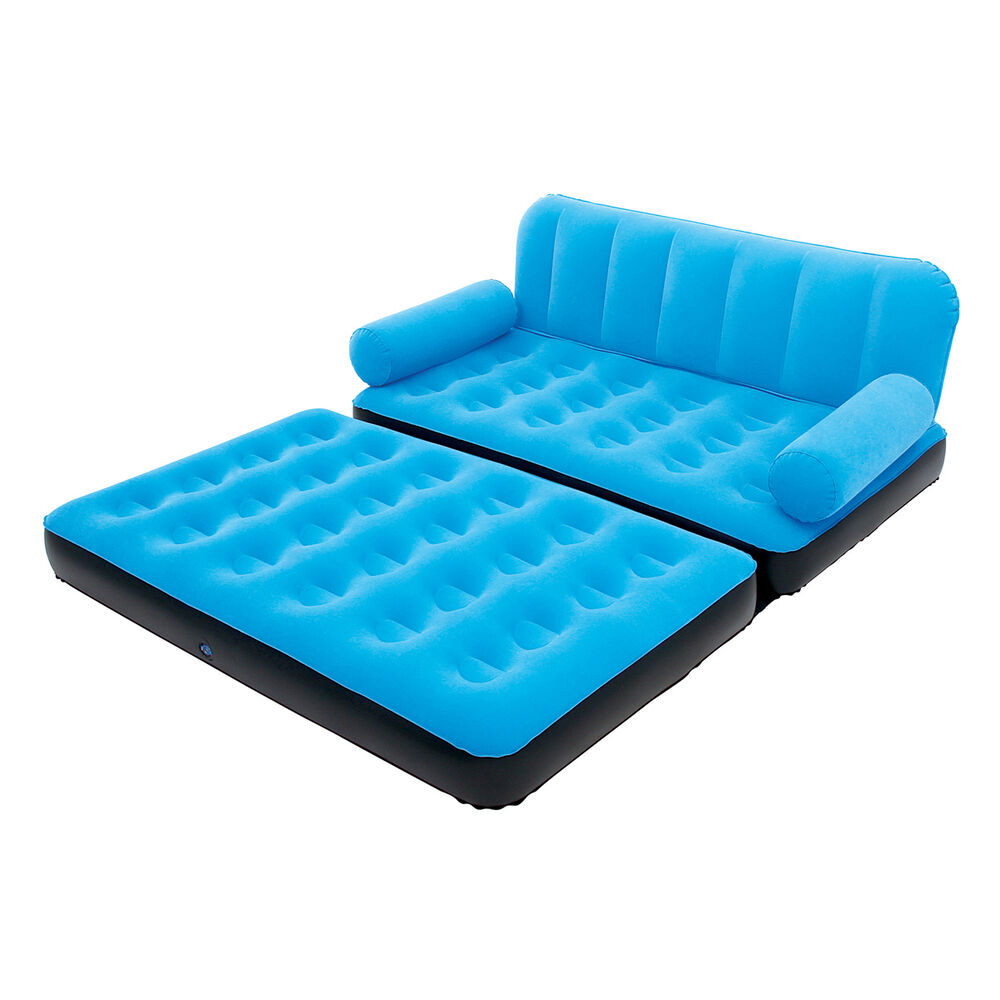 Bestway Multi Max Inflatable Air Couch Or Double Bed With Ac Air Pump Blue Ebay